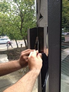 Image showing window film applied to a window ProTint