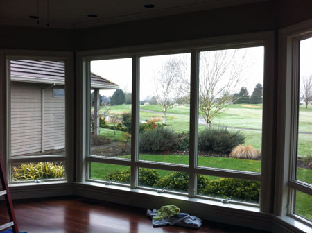View of window before ultra vision 50 window film installed