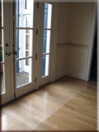 image of faded north facing hardwood floor