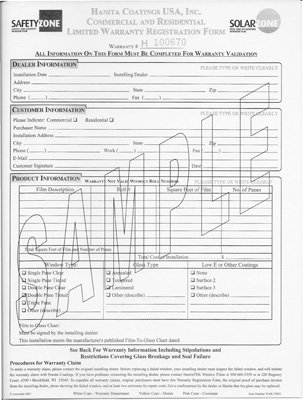 image of warranty page