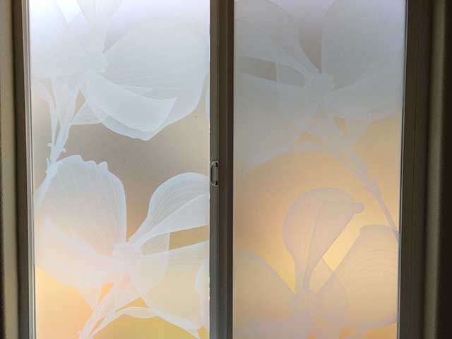 Bathroom privacy window film solution